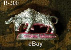 925 SILVER BULL Thai LP SAN WAT BANNONGJIK Amulet Buddha Phra Genuine Talisman