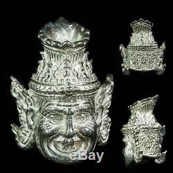 925 SILVER Thai LP SAN WAT BANNONGJIK Amulet Buddha Phra Genuine Talisman HERMIT