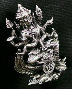 925 Silver Phra Prom LP Yrun Wat NongPhaMak Thai Buddha Amulet Protect Genuine