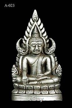 925 Silver Thai Buddha Amulet Phra Buddha Chinnaraj Be 2545 Talisman Protect