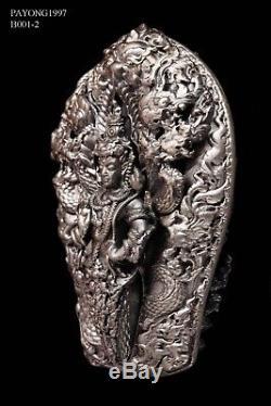 925 Solid Silver Phra PaThomNaKa Wat WiMutTiTham Thai Buddha Amulet Protect case