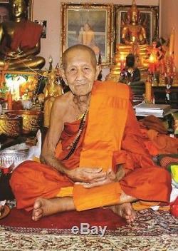925 Solid Silver Phra pidta LP San Wat BanNongJik Thai Buddha Amulet Top Model