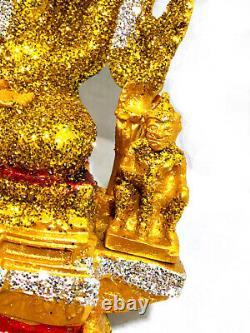 9288 Large 33cm Chinnaraj Thai Buddha Statue Lucky Amulet Gold Dust Mass Chant