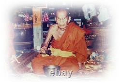 A coin Double Dragon LP MHUN Made at NongLhom temple B. E. 2543 Thai Buddha Amulet