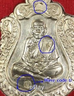 A coin LP MHUN, Wat Banjan, Thailand, Have code very clear, Thai Buddha Amulet