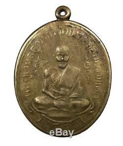 A coin LP SUK, PhakKlongmakhamtao, Frist Generation B. E. 2466, Thai Buddha Amulet