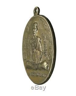 A coin is Lp Thob Temple Chang Puak, Last Generation C. E. 2519, Thai buddha Amulet