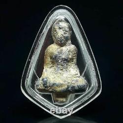 ANTIQUE Thai buddha Amulet PHRA KRU AYUTTHAYA STATUE Old Rare Thailand Pendant