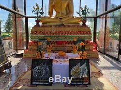 Amulet Lord Ganesha Coin Handmade Hindu Code 92 Thai Buddha Lucky Rich Wealth