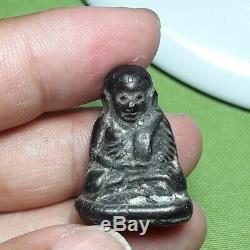 Amulet Lp Ngern Thai Buddha Phra Magic Pendant Old Wat Bangklan Statue Money Box