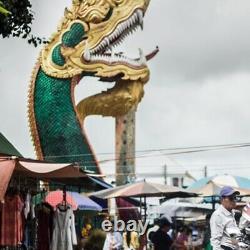 Amulet Naga Eye Thai Buddha Charm Powerful Wealth Lucky Crystal Gem Holy