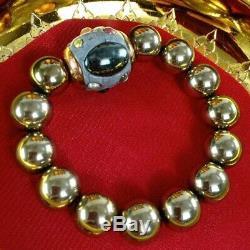 Amulet Takrud Thai Power Buddha Protect Heal Luck Rare Antique Bracelet Charm
