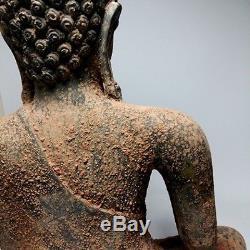 Antique Magnificent Bronze Buddha Art Dvaravati Asian Statues Thai Amulet