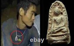Antique Phra Rod Lamphun 1 of Benjapakee Set Thai Buddha Amulet Pendant Thailand