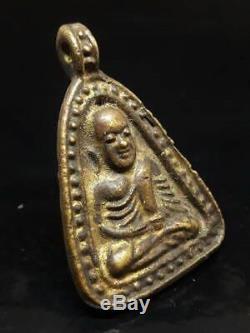 Antique Rare Phra Lp Ngern Wat Bangklan Old Thai Buddha Amulet Pendant Thailand