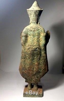 Antique Statues Buddha Bronze Style Bayon Angor Khmer Lopburi Thai Amulets