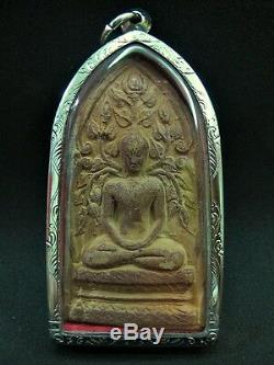 Antique Thai Amulet'buddha Phim Prok Bho Lp Tae Be2503' Temple Stamp