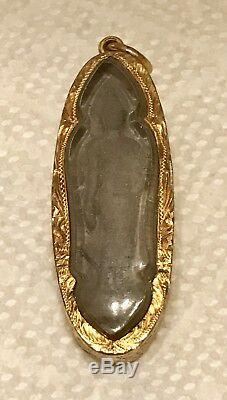 Antique Thai Buddha Amulet In 22k Solid Gold