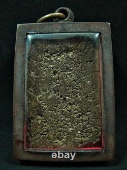 Antique Thai Buddha Somdej That Phanom Embed Relics Lp Toh Be2408 Amulet Pendant