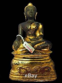 Antiques Gilt Bronze Statues Buddha Award Winning Ayutthaya 17. C Thai Amulets