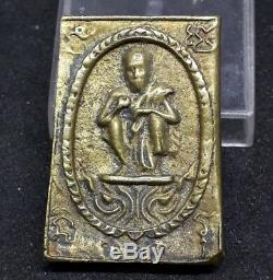 B. E. 2536 Phra Lp Koon Wat Banrai Thai Buddha Amulet Pendant Talisman old rare