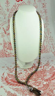 BIG Necklace Antique Leklai Somdej Thai Amulet 108 Buddha Prayer Bead Beads Mala