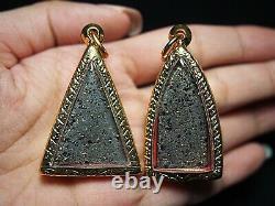 Benjapakee Set with Buddha's Gold Relics Wat Prakaew Temple Thai Buddha Amulet
