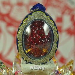 Best LEKLAI King Phaya Kod phee Kaew Somporn Thai Buddha MINERAL Amulet Pendant