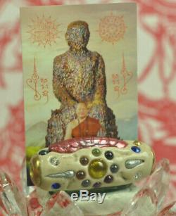 Best Powerful Leklai 59 Type Takrut Real Thai Buddha wealth Luck protect Amulet