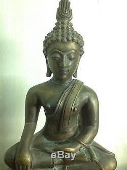 Big Sukhothai Buddha Worship Charm Thai Amulet Statue