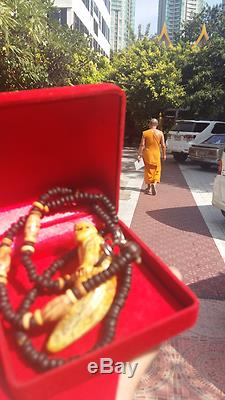 Boar Tooth Carved Tiger LP Sawai Temple Thai Buddha Amulets Expel Enemy Devil