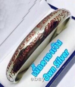 Buddha Amulet Power Lord Bracelet Ajan O Charm Magic Luck Money Thai Yant Wealth