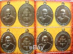 Buddha Bronze Coin Thai Buddhist Monk Lp Dang Wat Khao Ban Dai Be2503 Figure