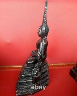 Buddha Chinnarat Statue Amulet Leklai Namphee Meditation Antique Thai Sacred