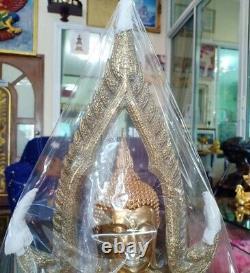 Buddha Chinnarat Statue Meditation healing Brass Amulet Antique Sacred Thai
