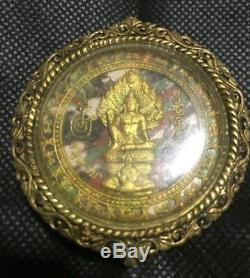 Buddha Jutukam Ramathap Real Talisman Genuine Wealth Money Pendent Thai Amulet