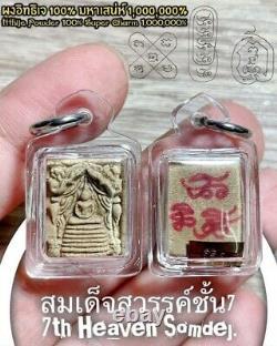 Buddha Magic 7th Heaven Phar Somdej Amulet Thai Itthije Powder Charm Ajarn O