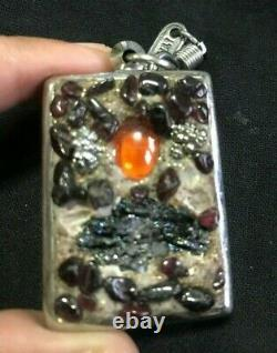 Buddha Magic Thai Amulet Leklai Cluster Badge Eye Naga Pendant Talisman Devil