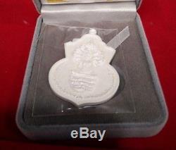 Buddha Naga LP Boon Thai Amulet Protect Luck Charm Rich Talisman Silver925 White