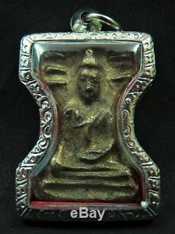 Buddha Phra Mahaesuan Kru Wat Mahathat Temple Suphanburi Thai Amulet 17/18th C