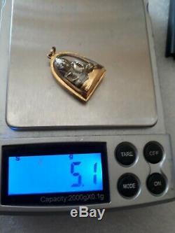 Buddha Protection Luang pho ngoen case 18 kt Thai Amulet