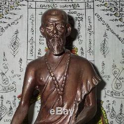 Buddha Statue Hermit Lersi Chiwok Talisman Thai Sitting Figure Brass Amulet