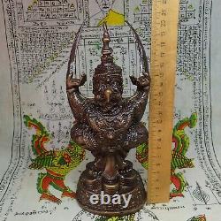 Buddha Statue Phra Garuda Phaya Krut Magic Bird Sculpture Thai Buddhism Talisman