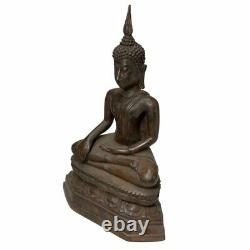 Buddha Statue Sukhothai Style Seated Thai Amulet Antique Bucha Original Rare 10
