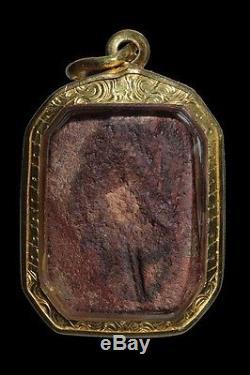 Buddha Thai Amulet Genuine Phra Lp Pan Pim Chicken Antique Power Magic / Real