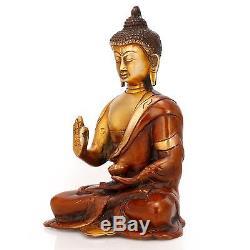 Buddha Thai Statue Amulet Brass Figurine Buddhism Meditation New Tibet Tibetan