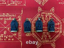 Cambodia Bayon Style Buddha, Blackwood Khmer Thai Lao Amulet Pendant Necklance