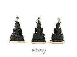 Cambodian Khmer Thai Laos Blackwood Buddha Pendant