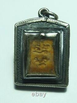 Certificate Thai Buddha Amulet Phra Somdej Wat Paknam Rare