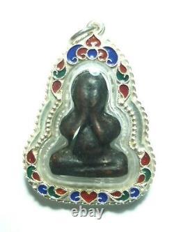 Certificated Thai Amulet Buddha Southeast Antique Phra Pidta Lp Eiam